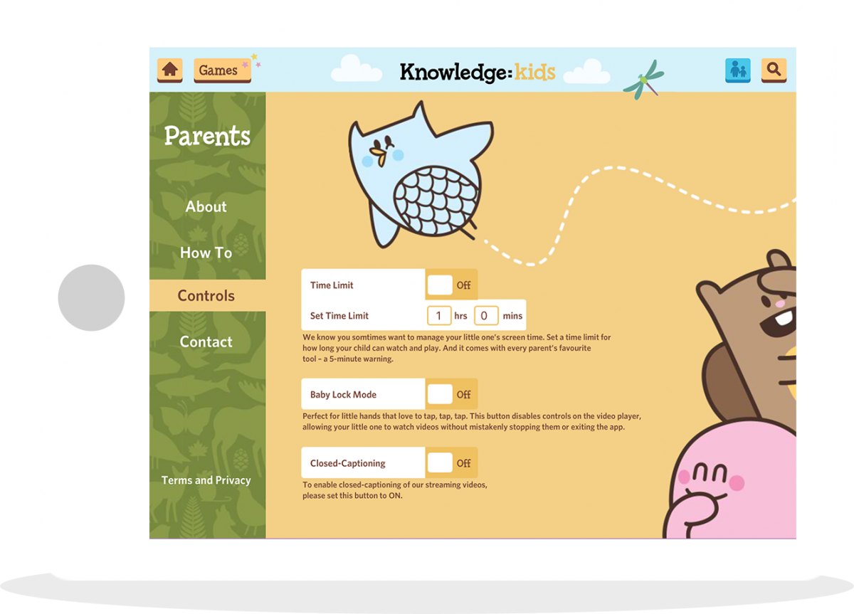 Knowledge Kids App Parents